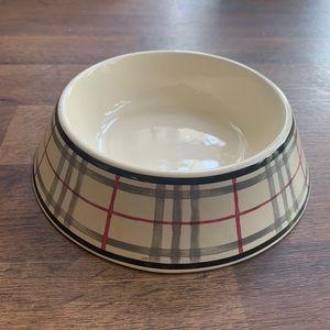 Burberry Pet Food & Water Bowl